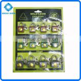12PCS High Quality Lock Iron Padlock Set Security Lock