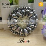 6CM China factory direct lady accessory bead rhinestone applique