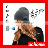 UCHOME fashion unisex crochet music hats wireless headphone bluetooth beanie hats for sale