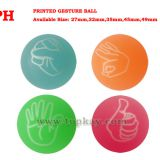 Printed Gesture bouncing balls, party supply bounce ball, toy bouncy ball