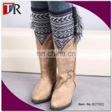 Two tone color aztec fashion knitted leg warmer new design
