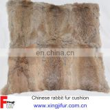 China manufacturer nautral rabbit fur pillow case