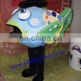Newly finished custom fish mascot costumes for sale