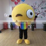 2017 China OEM factory produced customized mascot emoji costume for party