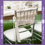 C398A satin ribbon decorative lace chair sashes