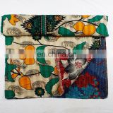 indian handmade cotton throw printed bedspread patchwork quilts