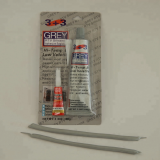 Grey Color Fast Curing 100g RTV Silicone Sealant Gasket Maker with 2g Super Glue