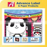 Kids Gift Stationery Photo frame Crayon Sticker Note pad Panda Animals Mini Coloring Activity kit Drawing set