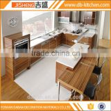 China made wood grain kitchen corner cabinet in factory