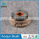 Elaborate diamond abrasive brush for polishing stones with steel wire