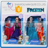 Mini Qute Kawaii movable joints Plastic cartoon Frozen doll Frozen princess anna & elsa olaf with Clothes girls children toys