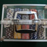 2014new design marco style Aluminum poker set .playing card set chips case set