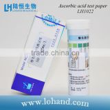 experimental testing paper for ascorbic acid test