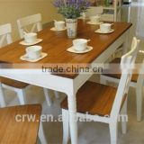 WH-4054 White Model Dining Table With Price And Chair Set For Sale                                                                         Quality Choice