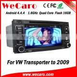 Wecaro WC-VU7006 Android 4.4.4 car multimedia system double din for vw transporter t5 car radio audio system GPS