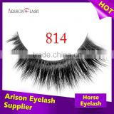 Private label custom eyelash packaging siberian real mink fur strip eyelashes and horse fur lash