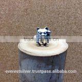 Fashion handmad wholesale thailand silver charm DIY 925 sterling silver charm Cat silver