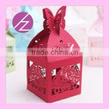 High quality wedding favors cake boxes laser cut baby shower favor boxes Th-69
