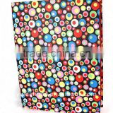 Rainbow Bubbles Color Art Paper Wrapping O Ring Binder Desktop File Folder for Office Stationery Cardboard A4 or FC Size