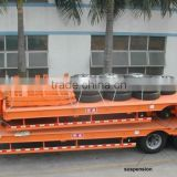 Carry a forklift loading and unloading of goods extendable low bed semi trailer for sale