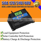 50A 12V/24V/48V Solar Panel Power Charge Controller with LCD and data display