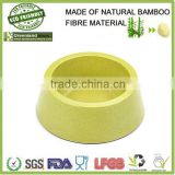 2016 hotsale new green eco-friendly bamboo material pet bowl, bamboo fiber pet cat feeder pot