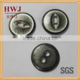 27L 2 hole fish eye alloy button