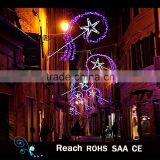 Christmas decoration outdoor led street decoration arch motif light in holiday street pole lighting fireworks sugar /star light