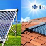 heat pipe split pressurized system solar water heater collector with tank copper coil