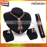New Hot 4pcs Retro Gold Plated Metal Necklace Bracelet Earring Ring Set Crystal Fashion Jewelry