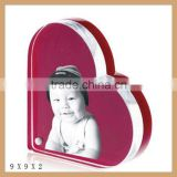 Customized heart shape acrylic picture frame,wholesale photo frame