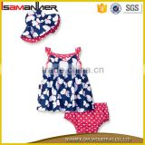 Hot sale 3 pcs baby dress suit with cap pretty china supplier baby clothes                                                                                                         Supplier's Choice