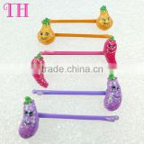baby girl dance hair accessories eco-friendly glitter fruit shape resin japanese hairpin