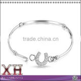 Sterling Silver 925 Pave CZ Horseshoe Bangle Wholesale