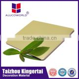 Alucoworld gold mirror acrylic sheet aluminum plastic material acp wall panels interior decoration material