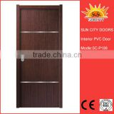 SC-P189 2016 New Design Interior PVC coated MDF Wooden Doors for Rooms                                                                         Quality Choice