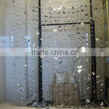 silver flower metallic foil curtain for party and home decoration