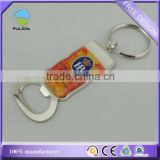 wholesale traditional classic metal zinc alloy epoxy logo promotional beer bottle opener keychain