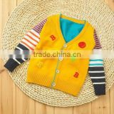 v-neck single-breasted sweater cardigan Cashmere color matching stripes