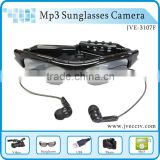 Sport Sunglasses Camera Hidden Vedio DVR Eyewear Glass Voice recorder Camcorder DV With MP3 Player 3107F