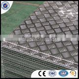 5- Bar Big Aluminum Checkered Plate For Floor 1050 h12 h14