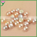 wholesale price top quality natural pearl purple drilled half pearl beads for decorating