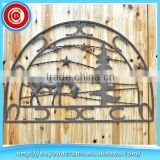 Interior decoration semicircle shape welcome sign wrought iron wall art
