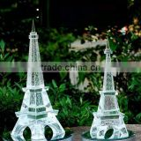High quality crystal crafts modal Eiffel Tower for wedding table decoration with led base