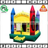 hot sale Cheap Inflatable Crayon Bouncer Prices for Kids and Adults, Commecial Used Jumping House for Sale
