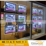 LED light sign window led pockets display real estate window display light box