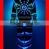 Customize tron light suit/DMX controlled wireless led light zippered jumpsuit/light up adult costumes for stage