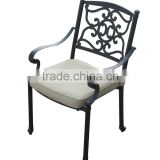 Hot sale! SH080 Outdoor Patio Furniture Jinqian flower Design Cast Aluminum Bistro Set in black