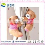 Plush fluffy cute teddy bear Curtain Buckle