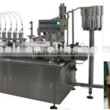 automatic glass bottle oral liquid filling machine and capping machine